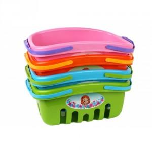 Nákupní košík plast 4 barvy 18x27x12cm - Cena : 101,- Kč s dph