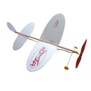 Letadlo Komár model na gumu polystyren/dřevo 38x31cm - Cena : 128,- Kč s dph