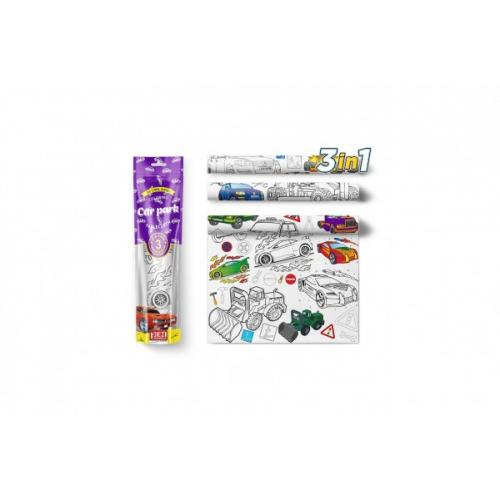 Malovací ubrusy 3 ks plast Auta v sáčku 10x42x4cm - Cena : 476,- Kč s dph
