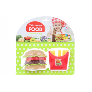 Hamburger a hranolky - Cena : 78,- Kč s dph