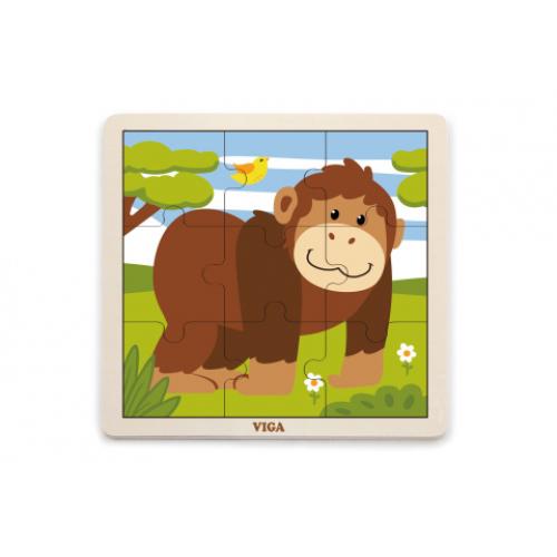 Dřevěné puzzle - opice - Cena : 135,- Kč s dph