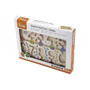 Dřevěný magnetický labyrint - čísla - Cena : 398,- Kč s dph