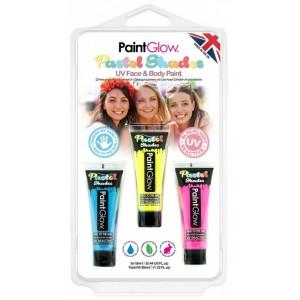 Sada pastelových UV barev - modrá, žlutá, růžová 13 ml - Cena : 158,- Kč s dph