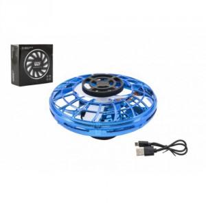 Ufo vracející se modré plast reagující na pohyb ruky s USB kabelem v krabičce 12x12x5cm - Cena : 385,- Kč s dph