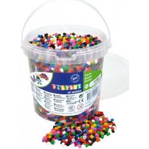 Zažehlovací korálky- 10.000 ks korálků- kbelík, základní barvy - Cena : 257,- Kč s dph