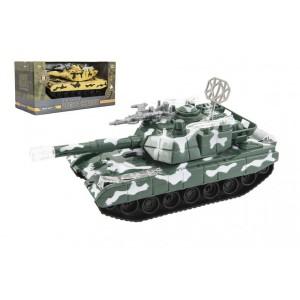 Tank narážecí plast 26cm na baterie se světlem se zvukem 2 barvy v krabici 31x16x14cm - Cena : 256,- Kč s dph