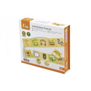 Dřevěné puzzle - smysly - Cena : 227,- Kč s dph