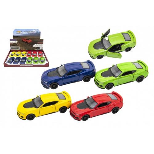 Auto Kinsmart Chevrolet Camaro ZL1 1:38 kov/plast 12,5cm 4 barvy na zpětné natažení 12ks v boxu - Cena : 161,- Kč s dph
