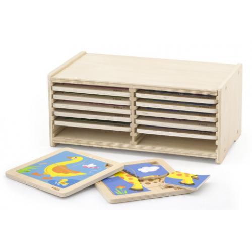 Sada dřevěných puzzlí - 12 ks - Cena : 1119,- Kč s dph