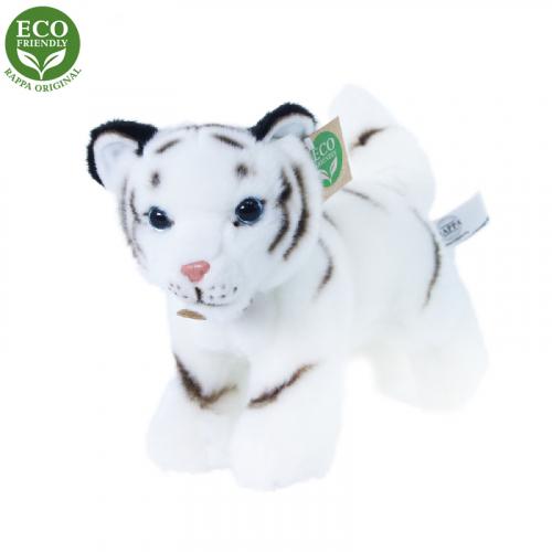 Plyšový tygr bílý mládě stojící s tvarovatelnými končetinami 22 cm ECO-FRIENDLY - Cena : 289,- Kč s dph