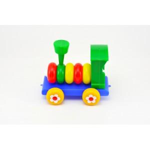 Lokomotiva/Vlak skládací plast 20cm - Cena : 131,- Kč s dph