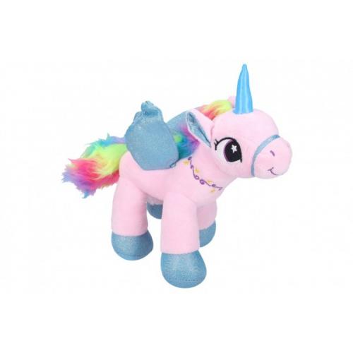Jednorožec/kůň s křídly plyš 21cm 2 barvy - Cena : 142,- Kč s dph