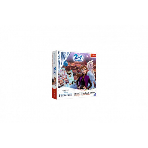 Soubor her 2v1 Člověče, nezlob se, Hadi a žebříky Frozen II/Ledové království II v krabici 24x24x5,5 - Cena : 341,- Kč s dph
