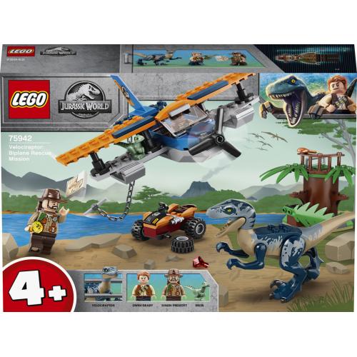 LEGO® Jurassic 75942 -  World Velociraptor: Záchranná mise s dvouplošn - Cena : 590,- Kč s dph