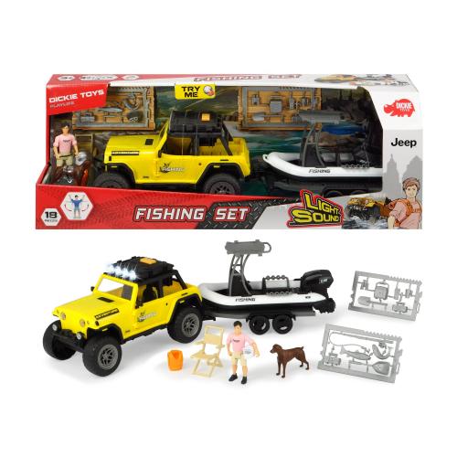Jeep s rybářským člunem - Cena : 560,- Kč s dph