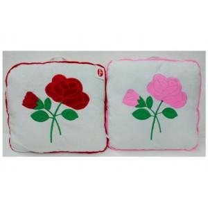 Polštář s růžemi plyš 40x40cm asst 2 barvy - Cena : 34,- Kč s dph