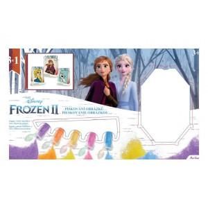 Pískování obrázku Ledové království II/Frozen II 3v1 v krabici 33x19x2,5cm - Cena : 241,- Kč s dph