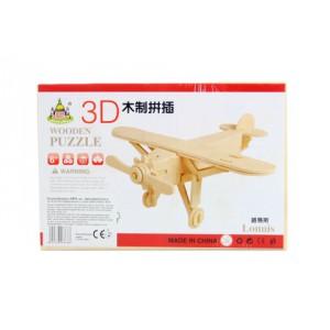 Puzzle dřevěné 3D Letadlo - Cena : 22,- Kč s dph