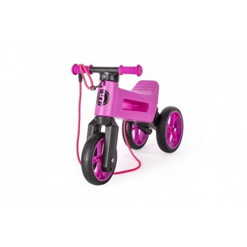 Odrážedlo FUNNY WHEELS Rider SuperSport fialové 2v1+popruh, výš. sedla 28/30cm nos 25kg 18m+ vsáčku - Cena : 899,- Kč s dph