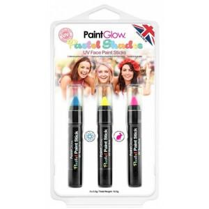 Sada pastelových UV tužek - modrá, žlutá, růžová - 3,5 g - Cena : 158,- Kč s dph