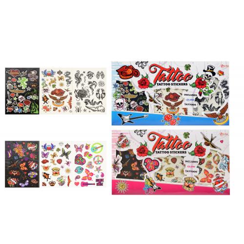 Tetování barevné 3ks - 2 druhy kluci/holky  36x20cm - Cena : 43,- Kč s dph