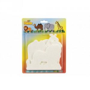 Podložka na zažehlovací korálky Hama slon,žirafa,lev,velbloud 4ks na kartě 19x24cm - Cena : 205,- Kč s dph