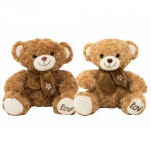 Medvěd sedící s mašlí plyš 34cm 2 barvy v sáčku 0+ - Cena : 346,- Kč s dph