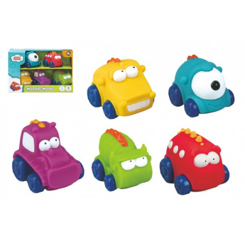 Auto/Autíčko Monster 5ks guma 7cm v krabičce 20x13x8cm 18m+ - Cena : 269,- Kč s dph