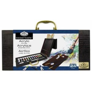 ROYAL and LANGNICKEL Set akrylových barev v dřevěném kufříku - Cena : 899,- Kč s dph