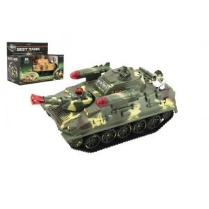 Tank plast 25cm na baterie se světlem se zvukem 2 barvy v krabici 27,5x21x15cm - Cena : 309,- Kč s dph