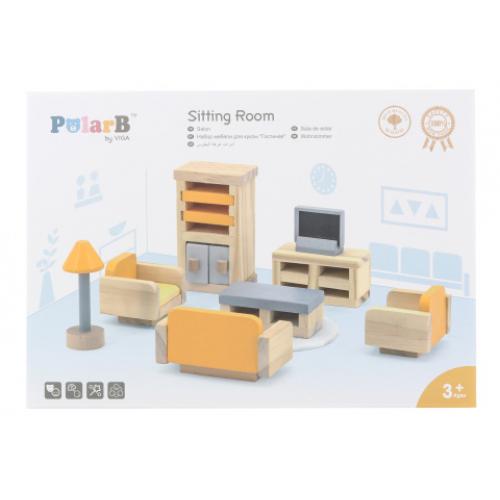 Dřevěný obývací pokoj - Cena : 314,- Kč s dph