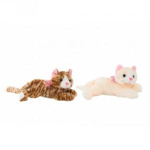 Kočka ležící plyš 30cm se zvukem 2 barvy 0+ - Cena : 239,- Kč s dph