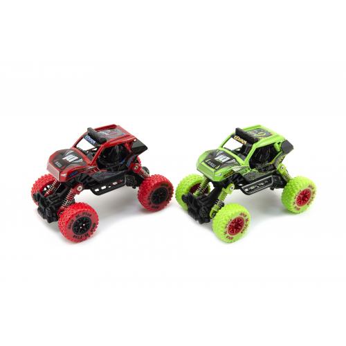 Auto terénne na pružinách kov / plast 14cm - 2 farby - Cena : 259,- Kč s dph