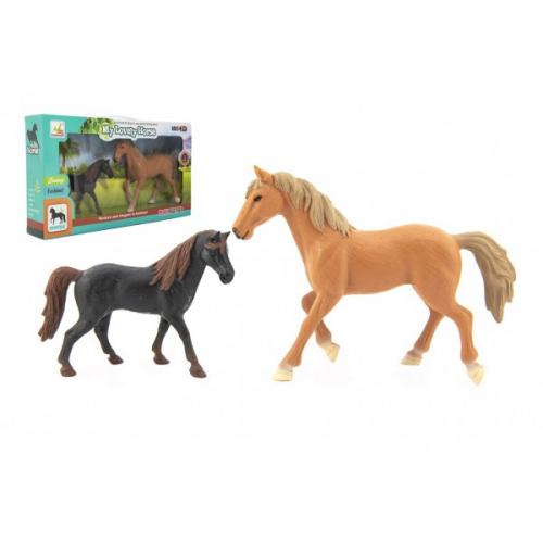 Kůň/Koně 2ks plast v krabici 36x20x6cm - Cena : 233,- Kč s dph