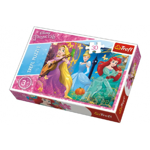 Puzzle Princezny Disney 27x20cm 30 dílků  21x14x4cm - Cena : 56,- Kč s dph