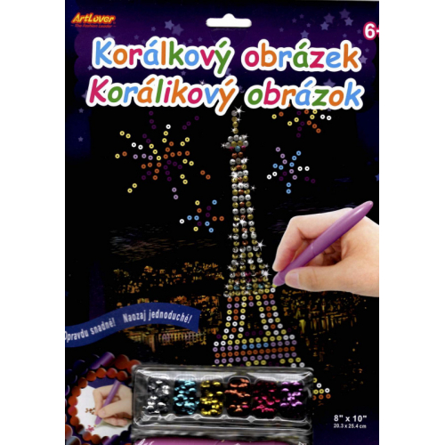 Korálkový obrázek - Eiffelova věž - Cena : 99,- Kč s dph