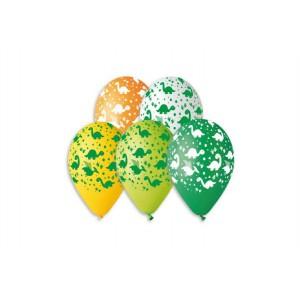 Balonek/Balonky nafukovací dinosaurus 12'' průměr 30cm 5ks v sáčku - Cena : 55,- Kč s dph