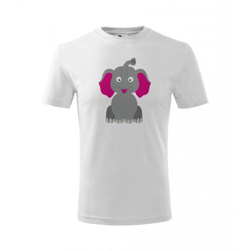 Dětské Tričko Classic New - Veselá zvířátka - Sloník, vel. 4 roky - bílá - Cena : 129,- Kč s dph