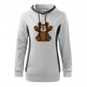 Mikina Kangaroo - Veselá zvířátka - Medvídek, vel. M - bílá - Cena : 379,- Kč s dph