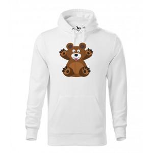Pánská Mikina Cape - Veselá zvířátka - Medvídek, vel. L - bílá - Cena : 599,- Kč s dph