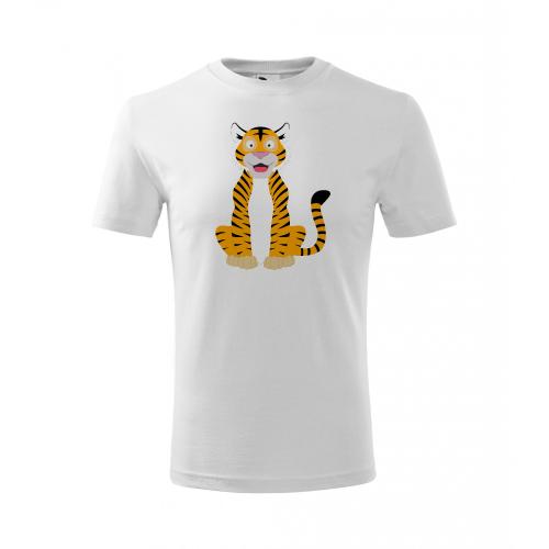 Dětské Tričko Classic New - Veselá zvířátka - Tygřík, vel. 4 roky - bílá - Cena : 249,- Kč s dph