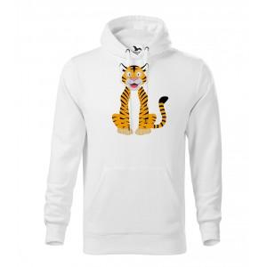 Pánská Mikina Cape - Veselá zvířátka - Tygřík, vel. XL - bílá - Cena : 599,- Kč s dph
