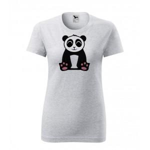 Dámské Tričko Classic New - Tučňák a jeho kamarádi - #2 panda velká, vel. L - šedý melír - Cena : 249,- Kč s dph