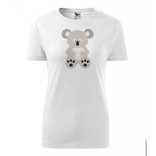 Dámské Tričko Classic New - Veselá zvířátka - Koala, vel. M - bílá - Cena : 249,- Kč s dph
