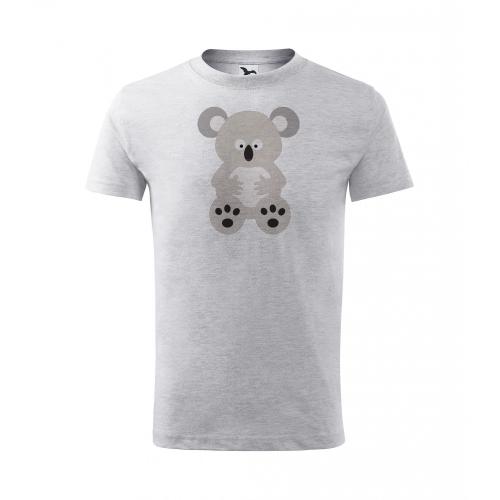 Dětské Tričko Classic New - Veselá zvířátka - Koala, vel. 8 let - šedý melír - Cena : 249,- Kč s dph