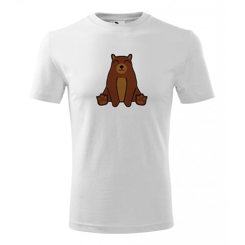 Pánské Tričko Classic New - Tučňák a jeho kamarádi - #9 medvěd hnědý, vel. M - bílá - Cena : 249,- Kč s dph