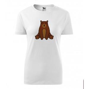 Dámské Tričko Classic New - Tučňák a jeho kamarádi - #9 medvěd hnědý, vel. S - bílá - Cena : 249,- Kč s dph