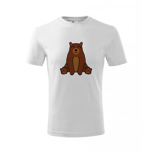 Dětské Tričko Classic New - Tučňák a jeho kamarádi - #9 medvěd hnědý, vel. 6 let - bílá - Cena : 249,- Kč s dph