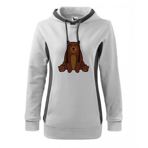 Mikina Kangaroo - Tučňák a jeho kamarádi - #9 medvěd hnědý, vel. M - bílá - Cena : 379,- Kč s dph