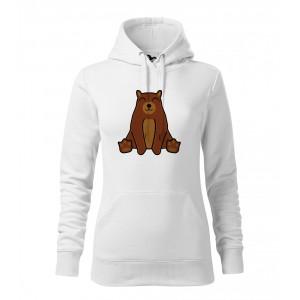Dámská Mikina Cape - Tučňák a jeho kamarádi - #9 medvěd hnědý, vel. M - bílá - Cena : 649,- Kč s dph